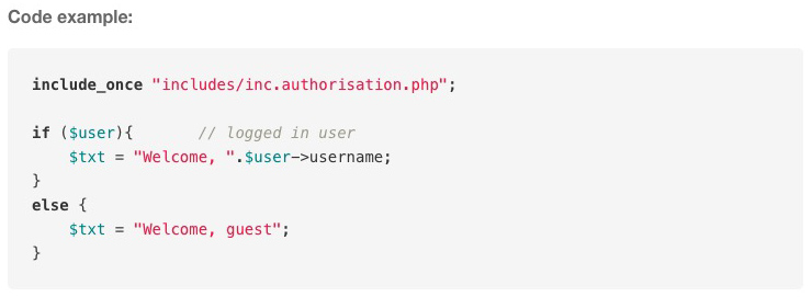 New feature: insert code snippets into blog posts